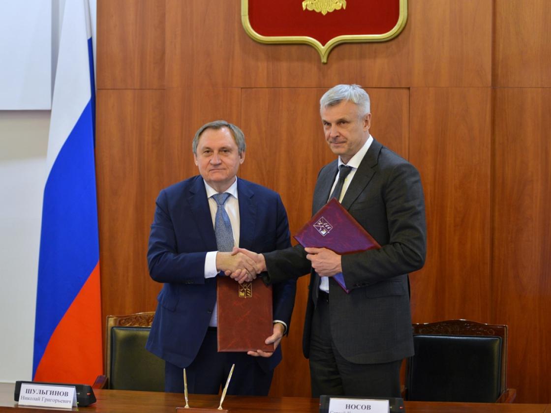 Сергей Носов провел совещание сгенеральным директором Русгидро Николаем Шульгиновым повопросам развития электроэнергетики Магаданской области